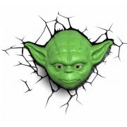 Декоративный 3D светильник Star Wars Yoda Facer (Зеленый)