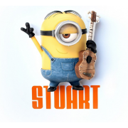 Декоративный 3D светильник Stuart Mini (Желтый)