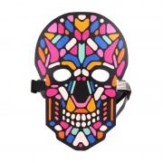 Звуковая светодиодная маска LED Mask череп (Разноцветный)
