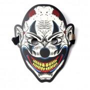 Звуковая светодиодная маска LED Mask клоуна (Белый с черным)