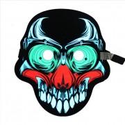 Звуковая светодиодная маска LED Mask (Разноцветный)