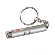 Фонарик брелок с лазерной указкой Laser Led Light (Серебро)