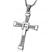 Кулон крест Доминика Торетто (Серебро)