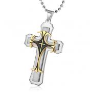 Мужской кулон крест Steel Rage (Серебро)