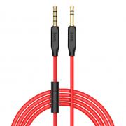Аудио кабель Hoco UPA12 с микрофоном 1м (Черный)