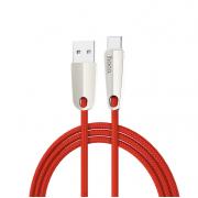 Кабель USB Hoco U35 Space shuttle smart power off charging data cable for Type-C 120cм (Красный)