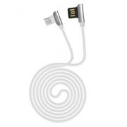 Кабель USB Hoco U42 Exquisite steel Lightning charging data cable 120cм (Белый)