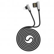 Кабель USB Hoco U42 Exquisite steel Lightning charging data cable 120cм (Черный)