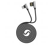 Кабель USB Hoco U42 Exquisite steel Type-C charging data cable 120cм (Черный)