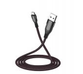 Кабель USB Hoco U54 Advantage Micro USB Fast Charge 2.4A 120cм (Черный)