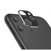 Защитная металлическая крышка на камеру для iPhone 11 (Черный)