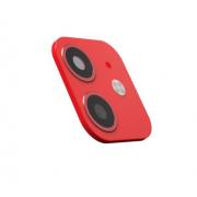 Защитная металлическая крышка на камеру для iPhone 11 (Красный)