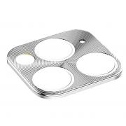 Защитная металлическая крышка на камеру для iPhone 11 Pro/11 Pro Max (Серебро)