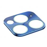 Защитная металлическая крышка на камеру для iPhone 11 Pro/11 Pro Max (Синий)