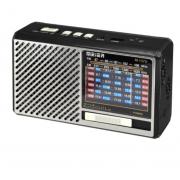 Аккумуляторный радиоприемник MEIER M-137 с USB и фонариком (Серебро)