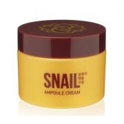 Ампульный крем для лица AsiaKiss с экстрактом слизи улитки Snail ampoule cream 50 мл АК522 (Кремовый)