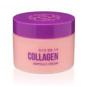 Ампульный крем для лица AsiaKiss с коллагеном Collagen ampoule cream 50 мл АК523 (Кремовый)