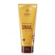Пилинг гель AsiaKiss с экстрактом слизи улитки Snail peeling gel 180 мл АК542 (Кремовый)