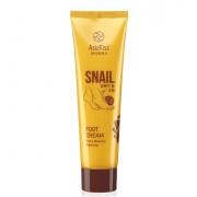 Крем для ног AsiaKiss с экстрактом слизи улитки Snail Foot Cream (Кремовый)