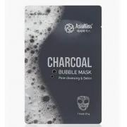 Пузырьковая маска AsiaKiss Charcoal Bubble Mask с древесным углем для глубокого очищения (Черный)