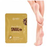 Маска-носки для ног AsiaKiss с муцином улитки интенсивно-увлажняющая 27г (Кремовый)