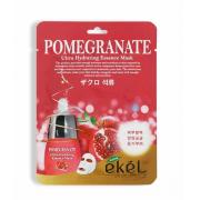 Тканевая мас для лица Ekel с экстрактом граната Pomegranate Ultra Hydrating Essence Mask 25 мг (Кремовый)