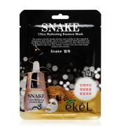 Тканевая маска для лица Ekel с пептидом змеиного яда Ekel Snake Ultra Hydrating Essence Mask 25 мл (Кремовый)