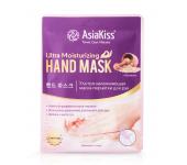 Увлажняющая маска-перчатки для рук AsiaKiss Овсянка АК223 (Кремовый)