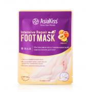 Восстанавливающая маска для ног AsiaKiss носочки Абрикос 38-45 р (Кремовый)