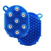 Массажная варежка с шариками (Синий)