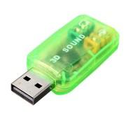 Внешняя звуковая карта USB 3D Sound (Желтый)