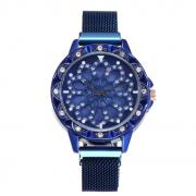 Женские часы с крутящимся циферблатом Flower Diamond (Синий океан)