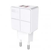 Сетевое зарядное устройство Awei C-500 Travel charger 2USB 2.4A (Белый)