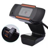 Веб-камера с микрофоном для компьютера Q8 (Черная)