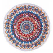 Круглое пляжное полотенце покрывало 150 см (Разноцветный)