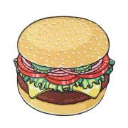 Круглое пляжное полотенце покрывало Гамбургер 150 см (Разноцветный)