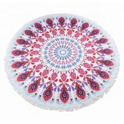 Круглое пляжное полотенце покрывало мандала 150 см (Разноцветный)