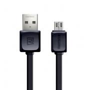Кабель Remax RC-129m microUSB-USB 1м (Черный)