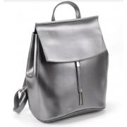 Рюкзак Italian натуральная кожа (Серый металлик)