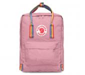 Рюкзак Fjallraven Kanken classic (Розовый с радужными ручками)