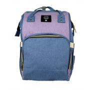 Сумка-рюкзак для мам Anello (Голубой с сиреневым)
