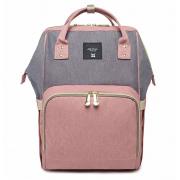 Сумка-рюкзак для мам Anello (Серый с розовым)