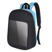 Рюкзак со встроенным LED дисплеем экраном (Черный с голубым)