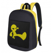 Рюкзак с LED дисплеем Pixel (Черный с желтым)