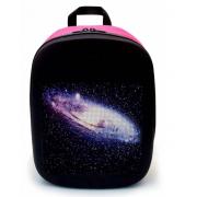 Рюкзак со встроенным LED дисплеем экраном (Черный с розовым)