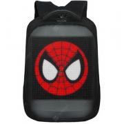 Рюкзак с LED дисплеем и функцией вывода любой картинки водонепроницаемый (Черный)