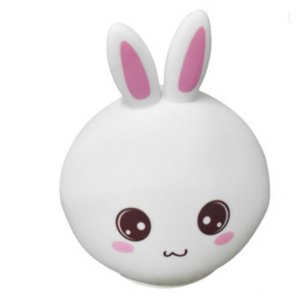 Силиконовый светильник Кролик (Белый)