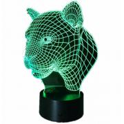 Светильник 3D Пантера (Разноцветный)
