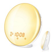 Световой будильник Wake-Up Light Alarm Clock with Sunrise Simulation WiFi (Белый)