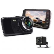 Автомобильный видеорегистратор T652 с камерой заднего вида (Черный)